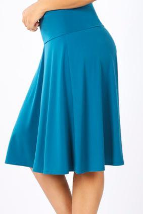 Flare skirt with fold over waist band-Feather & Quill Boutique