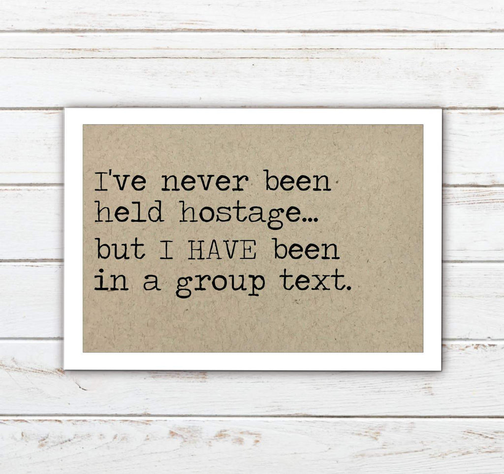 Group Text Refrigerator Magnet - Feather & Quill Boutique