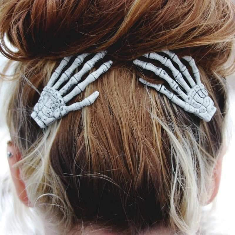 Halloween Skeleton Hands Hair Clips - Feather & Quill Boutique