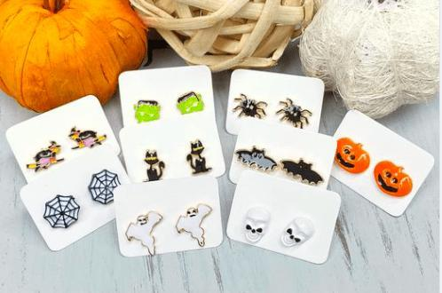 Halloween stud earrings - Feather & Quill Boutique