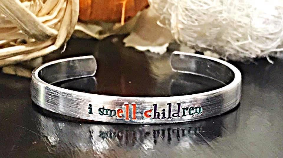 Hocus Pocus Hand Stamped Bracelet - Feather & Quill Boutique