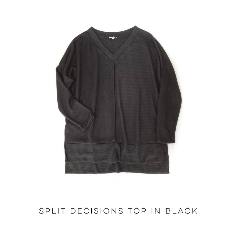 Split Decisions Top in Black