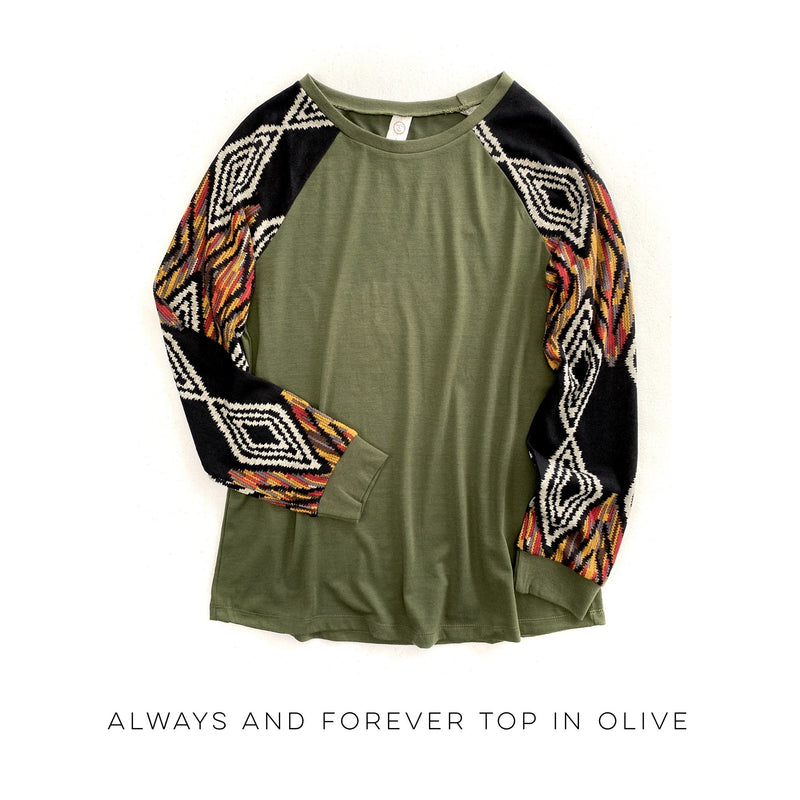 Always & Forever Top in Olive