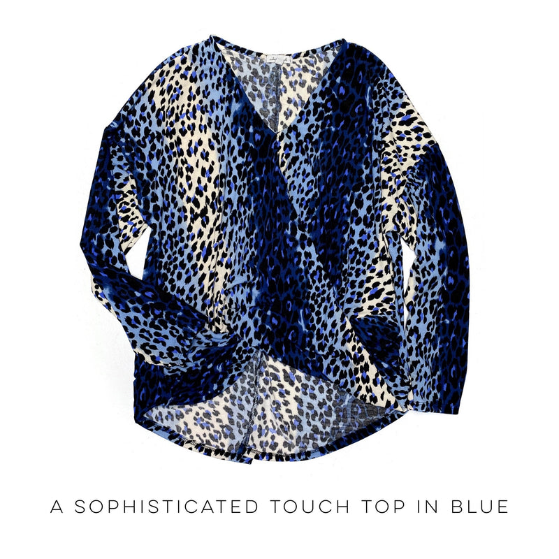 A Sophisticated Touch Top in Blue