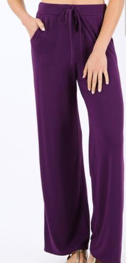 Loose Fit Lounge Pants - Multiple Colors-Feather & Quill Boutique