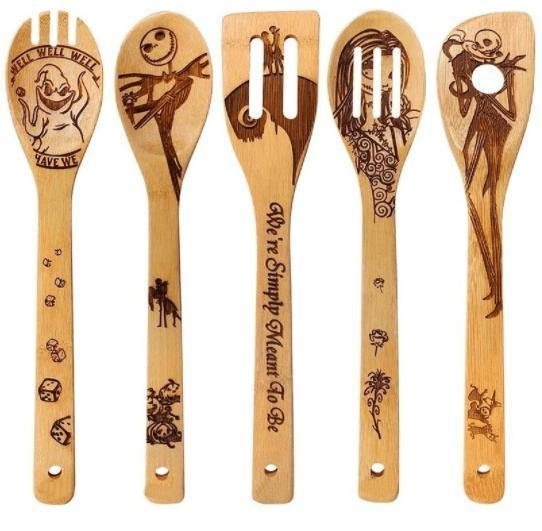 Nightmare Before Christmas Wood Spoon Set - Feather & Quill Boutique
