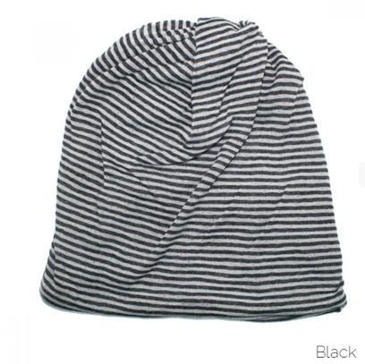 Gray and black stripe soft knit