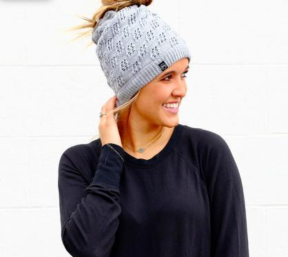 Ponytail Beanies Super Soft Jersey-Feather & Quill Boutique