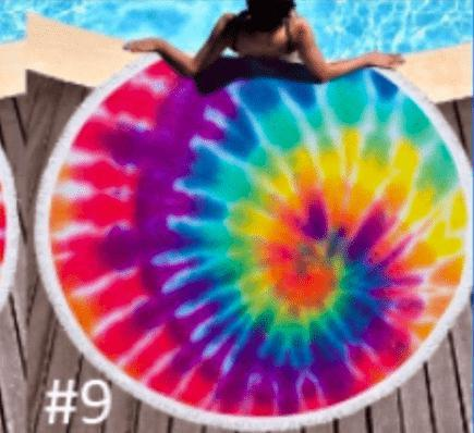 Round Beach Towel - variety of prints - Feather & Quill Boutique
