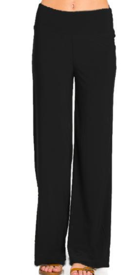 Solid Palazzo Pants-Feather & Quill Boutique