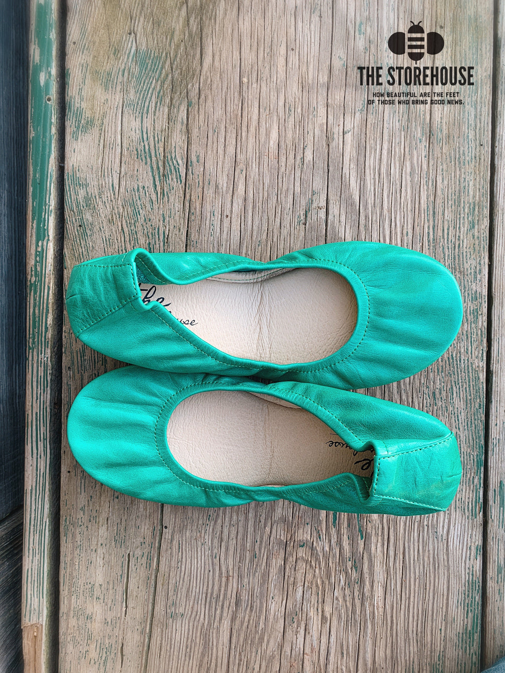 Storehouse Flats - Jungle Green-Feather & Quill Boutique
