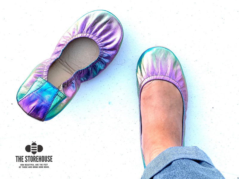 Storehouse Flats - Northern Lights IN STOCK-Feather & Quill Boutique