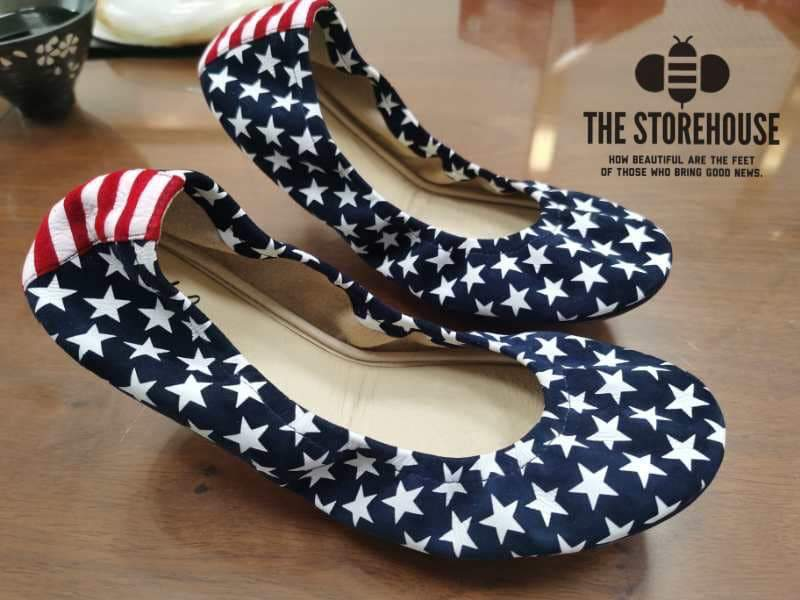 Storehouse Flats - Stars and Stripes IN STOCK-Feather & Quill Boutique
