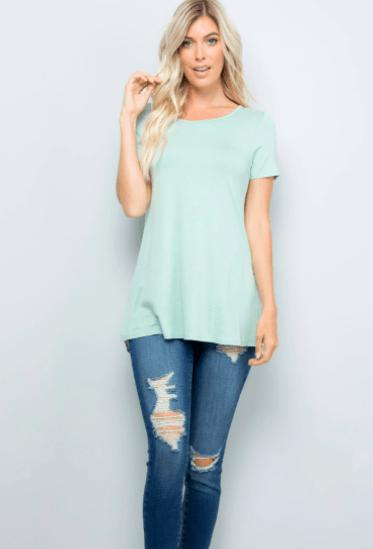 Surprise Floral Back Tee - Feather & Quill Boutique
