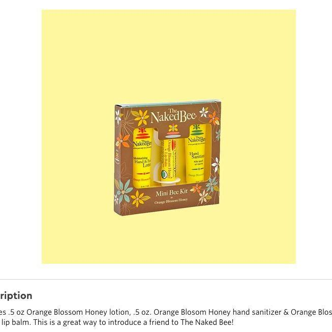 The Naked Bee Orange Blossom Mini Bee Kit-Feather & Quill Boutique