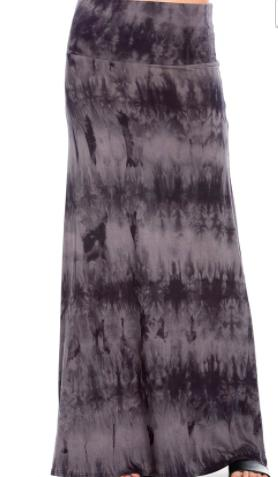 Tie Dye Maxi Skirt-Feather & Quill Boutique