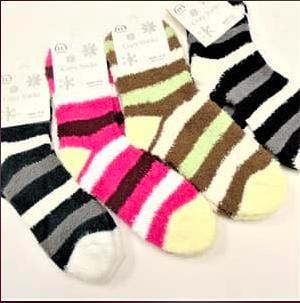 Women's Fuzzy Socks-Feather & Quill Boutique