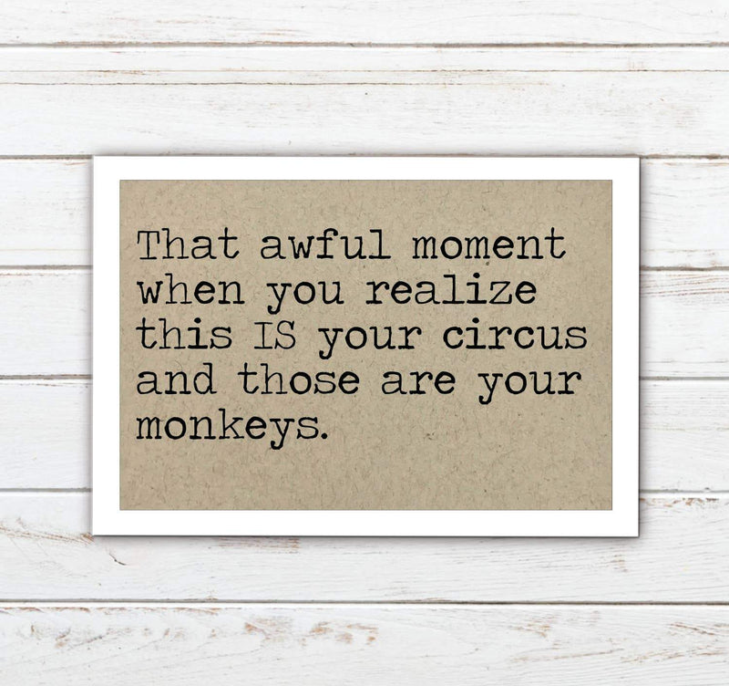 Your Monkeys Funny Magnet - Feather & Quill Boutique