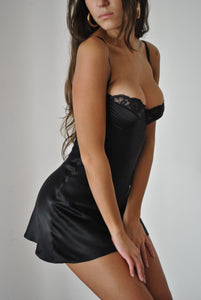 Underwire Slip Dress Black