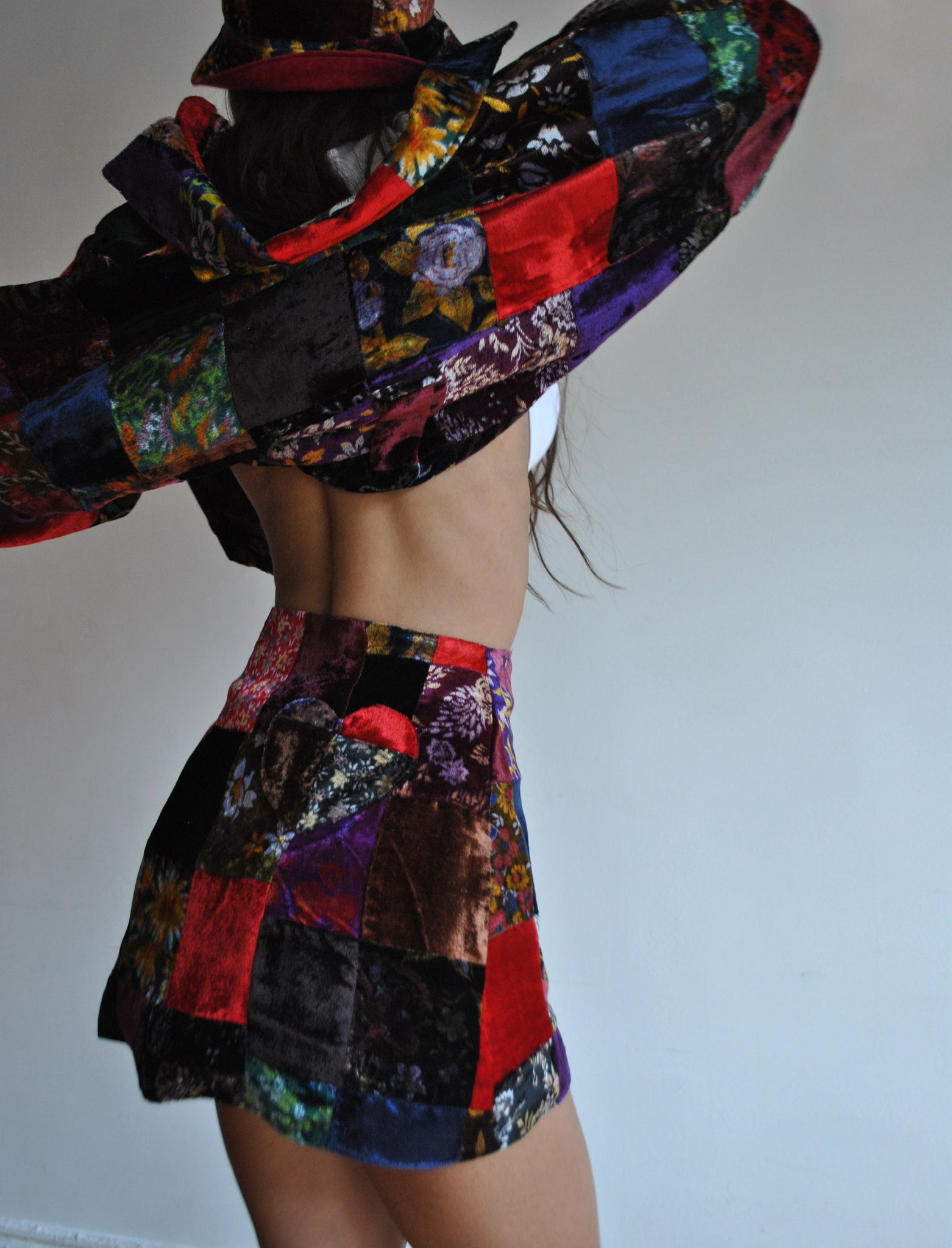 Patchwork Velvet Lover's Shirt