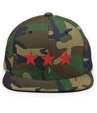 Load image into Gallery viewer, 3 Stars - Snapback Hat (Camo / Red)