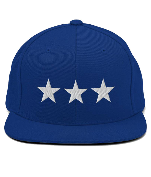 3 Stars - Snapback Hat (Blue / White)