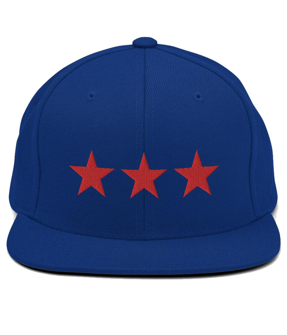 3 Stars - Snapback Hat (Blue / Red)