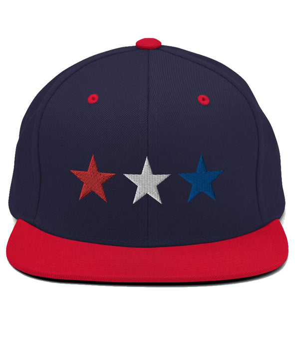 3 Stars - Snapback Hat (Navy & Red / RWB)
