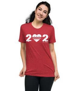 202 - Heart / City Flag (Faded Red / White)