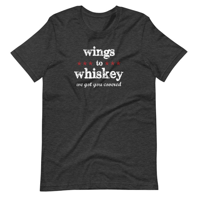Phrase / Words - wings to whiskey (Multiple Color Options)