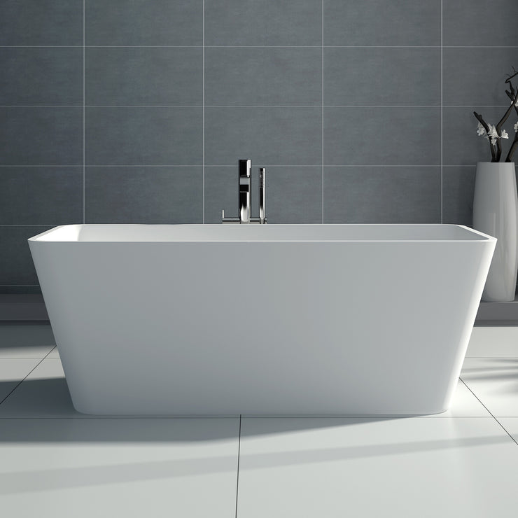 SW-103S Rectangular Freestanding Bathtub Shown