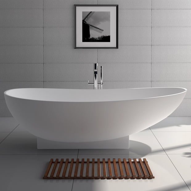 SW-136 Oval Freestanding Bathtub Shown Installed