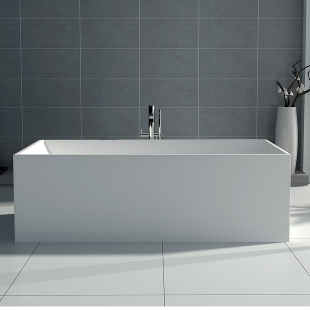SW-122L Rectangular Freestanding Bathtub Shown