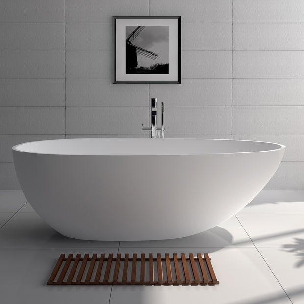SW-105S Oval Freestanding Bathtub Shown