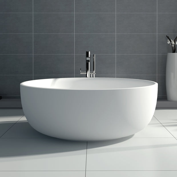 SW-141S Round Freestanding Bathtub Shown