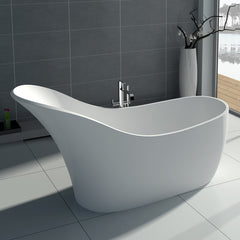SW-137W Slippered Freestanding Bathtub Shown