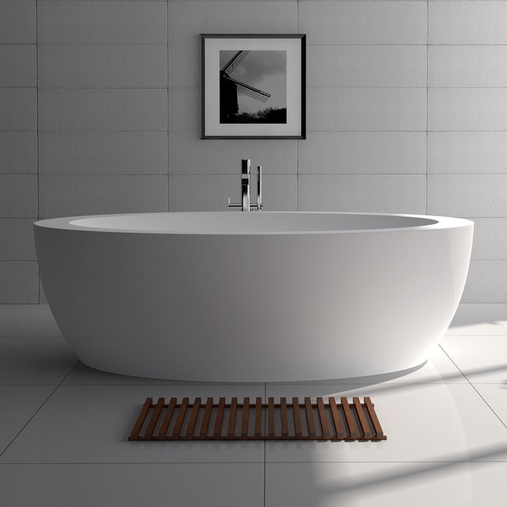SW-172 Oval Freestanding Bathtub in White Finish Shown