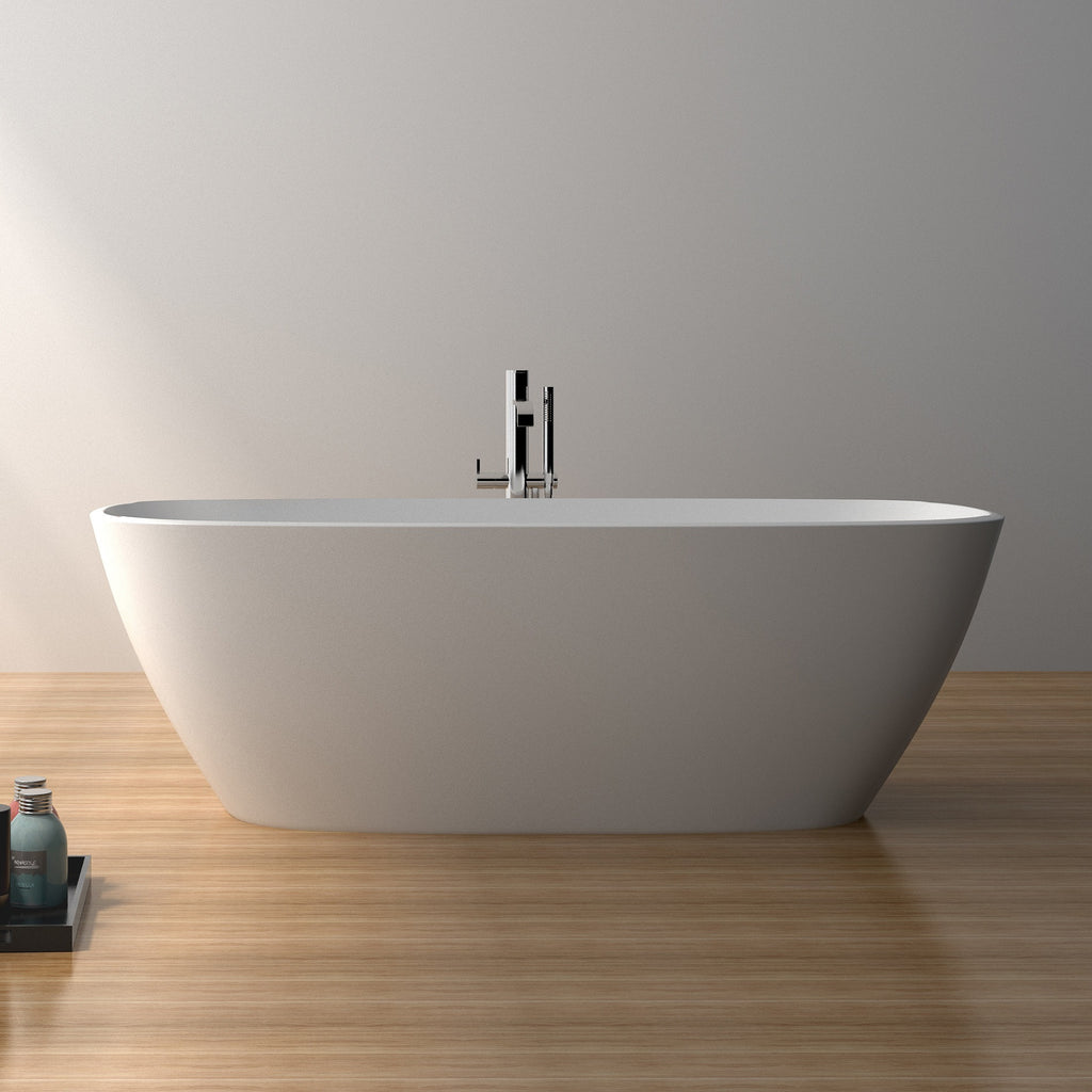 SW-174 Round Freestanding Bathtub Shown Installed with Separate Faucet