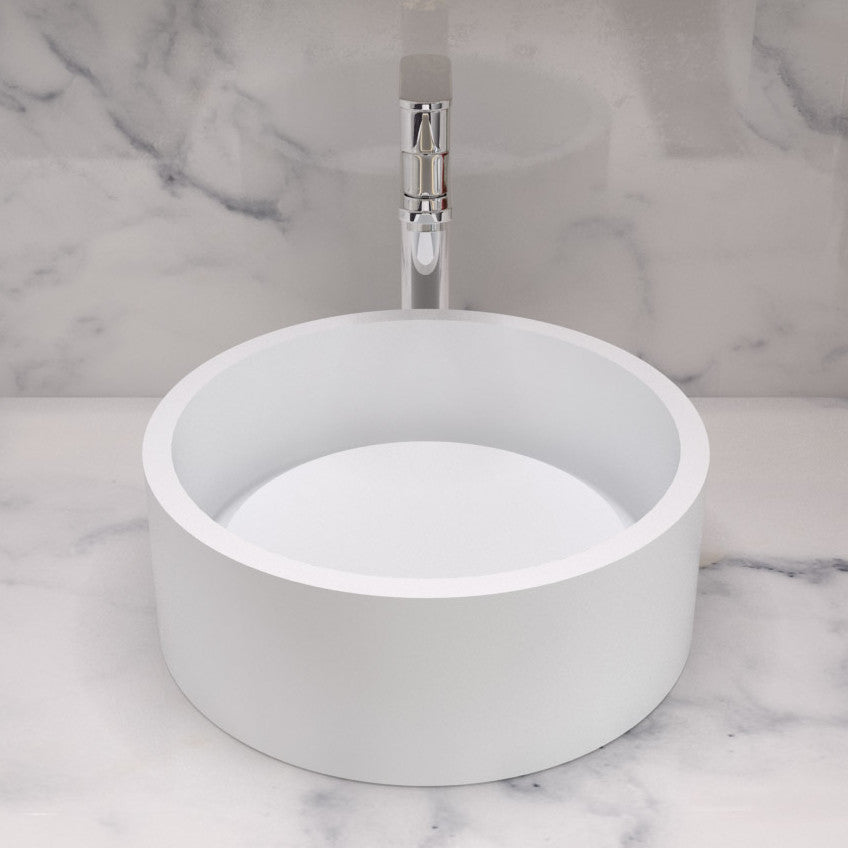 CW-103 Round Countertop Vessel Sink Shown Installed