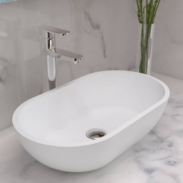 CW-104 Elipsed Countertop Vessel Sink Shown
