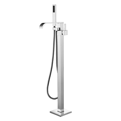 BF-105CH Freestanding Bathtub Filler Faucet with Shower Sprayer Shown in Chrome Finish