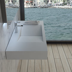 DW-113 Rectangular Wall Mounted Sink Shown