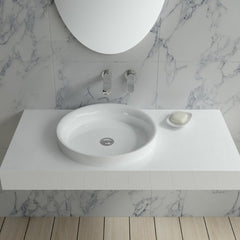 DW-116 Rectangular Wall Mounted Sink Shown Installed