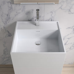 DW-122 Square Freestanding Sink Shown Installed