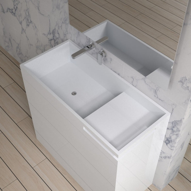 DW-129 Rectangular Freestanding Sink Shown