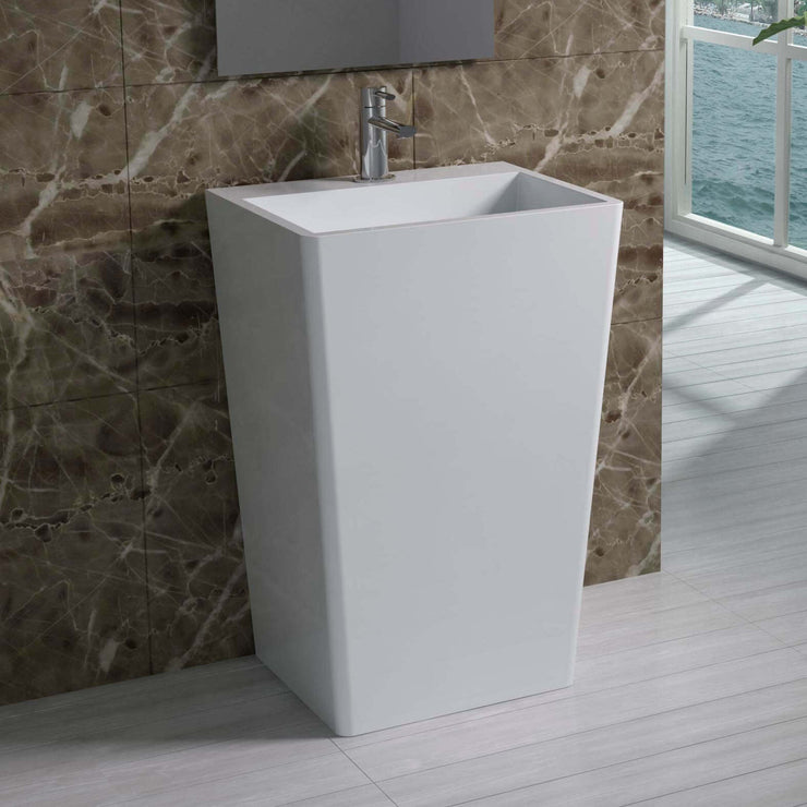 DW-130 Rectangular Freestanding Sink Shown Installed with Separate Sink