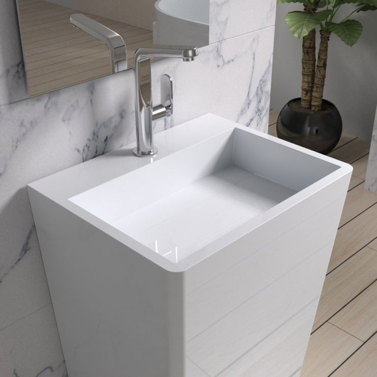 DW-130 Rectangular Freestanding Sink Shown