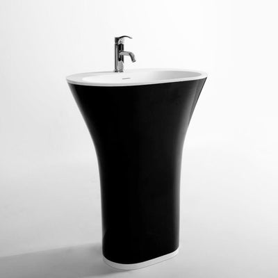 DW-152B Oval Freestanding Sink in Black Finish Shown