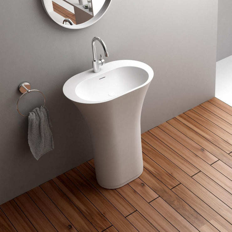 DW-152W Oval Freestanding Sink Shown Installed