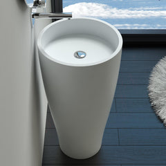 DW-212 Round Freestanding Sink Circular Shape Shown